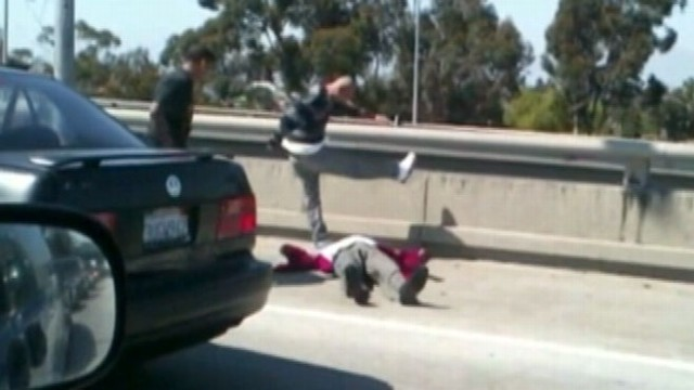 VIDEO: Men seen beating another driver in Liveleaks.com video were charged with assault.