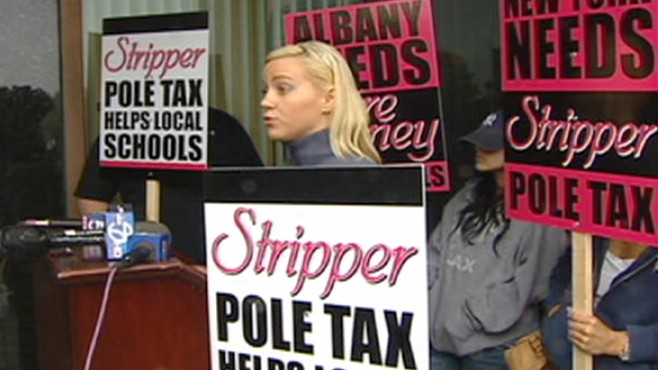 VIDEO: A N.Y. strip club manager wants to institute a pole tax to aid local schools.