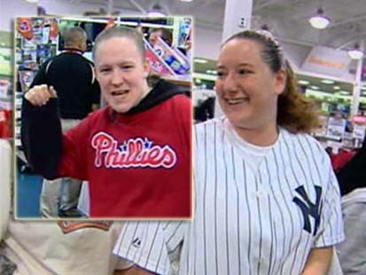 VIDEO: Hamilton, NJ is divided over support in the World Series.