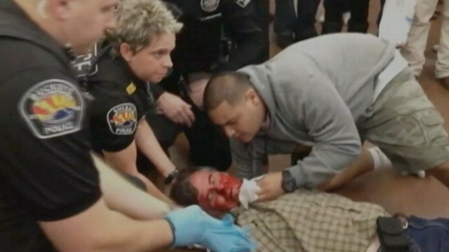 VIDEO: Arizona shoppers say the man was forced to the ground by police.