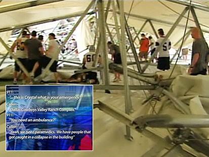 Video: 911 calls from Dallas dome collapse.