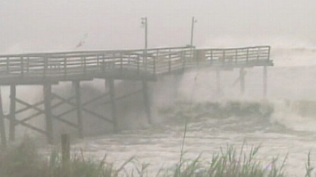 Hurricane Irene Hits the Mainland
