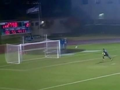 VIDEO: A soccer player at SMU scores a 95-yard goal.