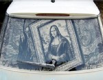 VIDEO: An artist turns turns dirty windshields into works of art.