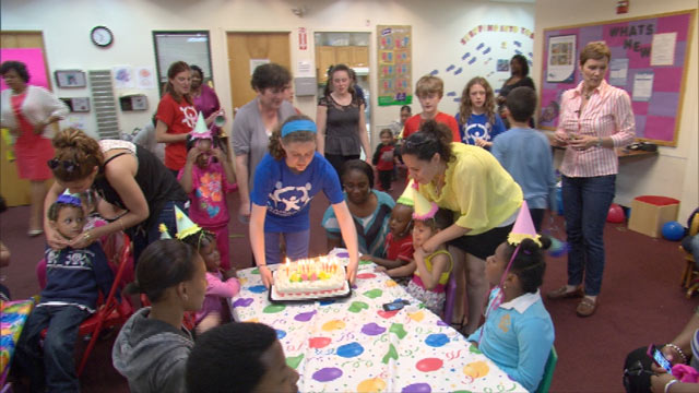 PHOTO: A party thrown by Birthday Wishes, who provides birthday parties for homeless children in Mass., R.I, and Long Island, N.Y.