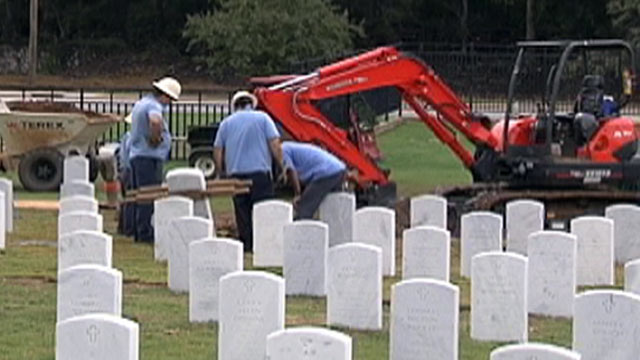 PHOTO:A body was exhumed from a Tennessee cemetery after a mans widow realized that her husband had been buried with the wrong set of dentures.