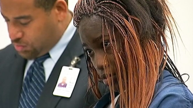 VIDEO: Lynette Walls, 17, is accused of purposefully hitting a 15-year-old in Atlanta.