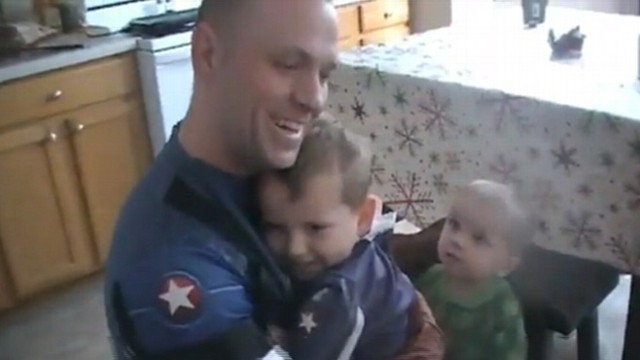 VIDEO: Military dad, disguised as Captain America, surprises his son on his birthday.