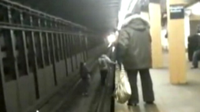 VIDEO: NYC teens play subway chicken game.