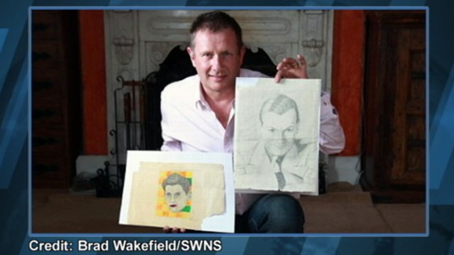 VIDEO: British man purchased an early drawing by the artist at a Las Vegas garage sale.