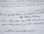 PHOTO: Abraham Lincolns signature on 13th amendment