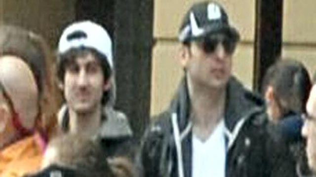 PHOTO: This photo released by the FBI early Friday April 19, 2013, shows what the FBI is calling the suspects together, walking through the crowd in Boston on Monday, April 15, 2013, before the explosions at the Boston Marathon.
