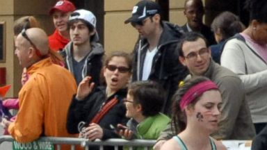 PHOTO: Tamerlan Tsarnaev, who was dubbed Suspect No. 1 and second from left, Dzhokhar A. Tsarnaev, who was dubbed Suspect No. 2 in the Boston Marathon bombings by law enforcement. This image was taken approximately 10-20 minutes before the blast.