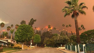Los Angeles Battles Wildfire