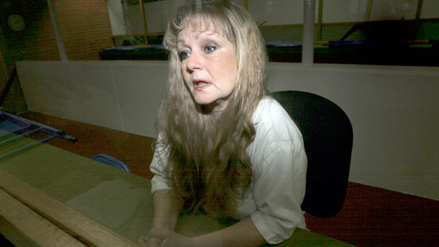 PHOTO: Cathy Lynn Henderson answers a question during an interview at the Texas womens death row unit in Gatesville, Texas, April 17, 2007.