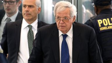 PHOTO: Former House Speaker Dennis Hastert arrives at the federal courthouse, June 9, 2015, in Chicago for his arraignment on federal charges that he broke federal banking laws and lied about the money when questioned by the FBI.