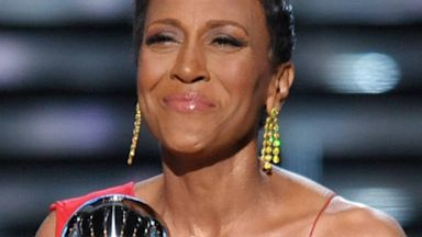 PHOTO: Television host Robin Roberts accepts the Arthur Ashe courage award at the ESPY Awards on Wednesday, July 17, 2013, at the Nokia Theater in Los Angeles.