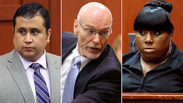 PHOTO: George Zimmerman, Don West and Rachel Jeantel