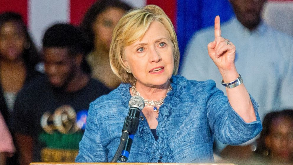 PHOTO: Democratic presidential candidate Hillary Rodham Clinton speaks at a grassroots organizing meeting at Philander Smith College, Sept. 21, 2015, in Little Rock, Ark.