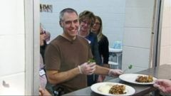 PHOTO: Jeff Ansorge left his job as executive chef at a Minneapolis restaurant to work at the Salvation Army.