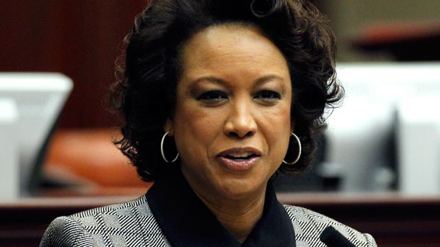 PHOTO: Florida Lt. Gov. Jennifer Carroll speaks in Tallahassee, Fla, Jan. 11, 2012.
