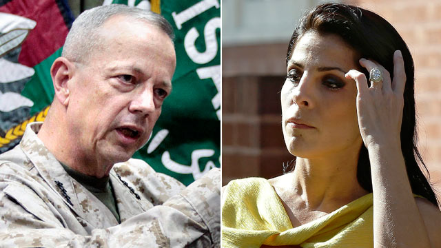 "PHOTO: Gen. John Allen, shown in this file photo, left, is under investigation for alleged ""inappropriate communications"" with Jill Kelley, right."