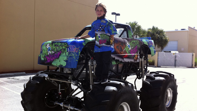 PHOTO: This August 2011 photo courtesy of Uncle Tod's Motorsports, Inc. shows Kaid Jaret Olson-Weston with his half-scale monster truck.