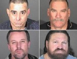 PHOTO: Randall Whitmore, top left, Edwin Valentine, top right, Joshua Box, bottom left, and Duane Van Tuinen, bottom right, are seen in these booking photos provided by Los Angeles County Sheriffs Department in connection with a series of buglaries targe