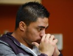 PHOTO:In a photo provided by ESPN, Notre Dame linebacker Manti Teo pauses during an interview with ESPN on Friday, Jan. 18, 2013, in Bradenton, Fla.