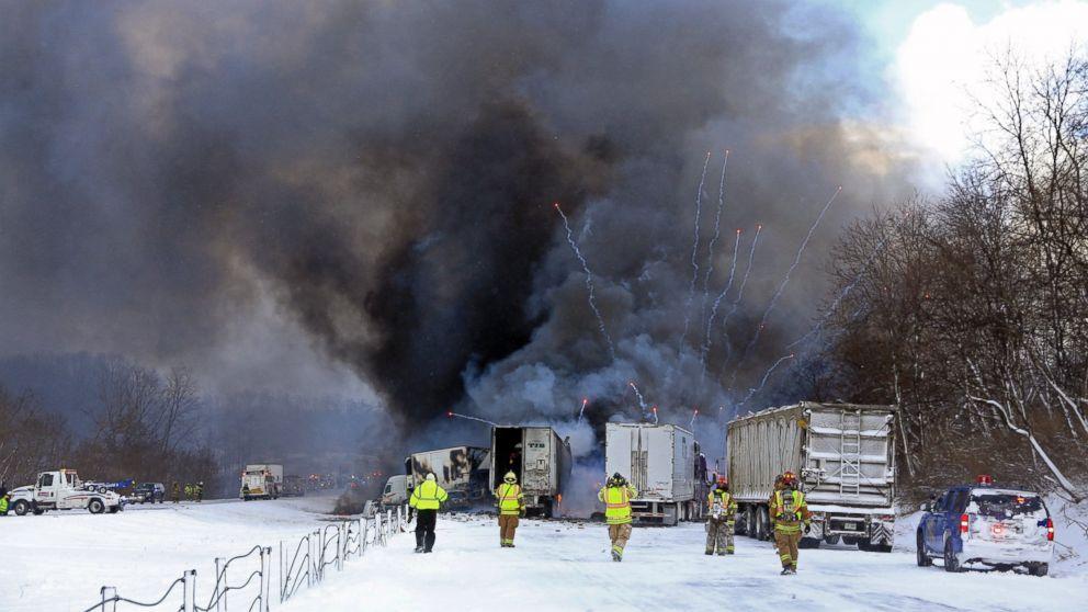 Car Crash Michigan Fireworks