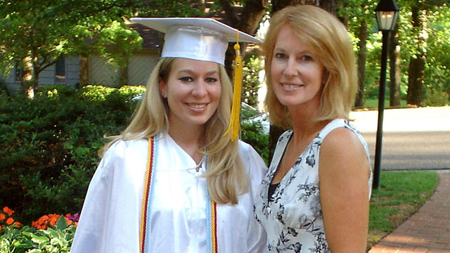 PHOTO: In this undated handout photo provided by Beth Twitty, Natalee Holloway, 18, stands with her mother Beth Twitty at her home before her high school graduation ceremony from Mountain Brook High School in Mountain Brook, Alabama, Tuesday, May 24, 2005