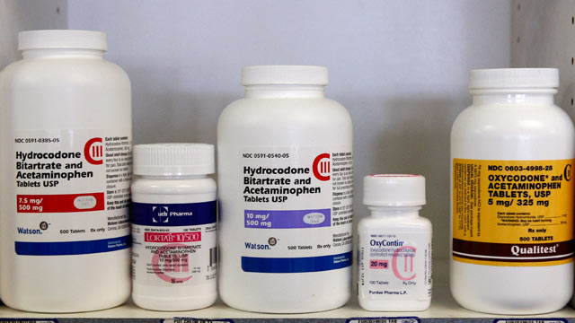 PHOTO: Bottles of drugs commonly targeted by thieves are photographed at Hospital Discount Pharmacy in Edmond, Okla. Across the country, pharmacy robberies are on the rise, partly because of the increasing demand for prescription drugs.