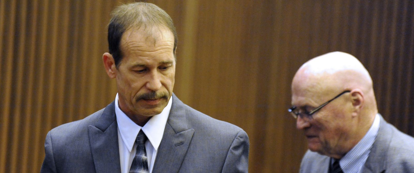 PHOTO: Theodore Wafer stands in court during his trial at Frank Murphy Hall of Justice in Detroit on July 24, 2014.