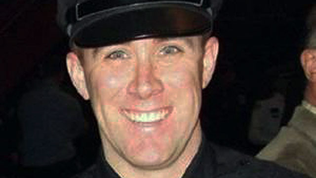 PHOTO: Transit police officer Richard Donohue was critically injured in an early morning shootout, April 19, 2013, with the two suspects in the Boston Marathon bombings.