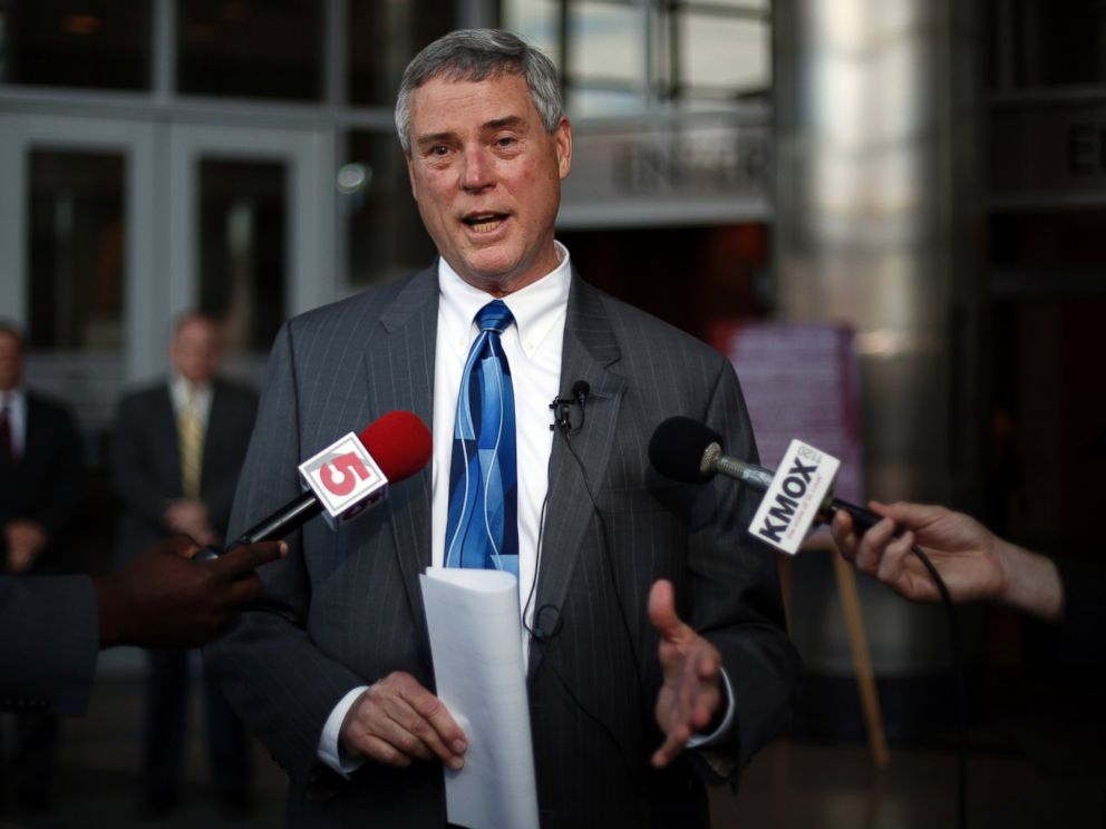 PHOTO: St. Louis County Prosecuting Attorney Robert P. McCulloch is seen in this April 15, 2014 file photo taken in Clayton, Mo.