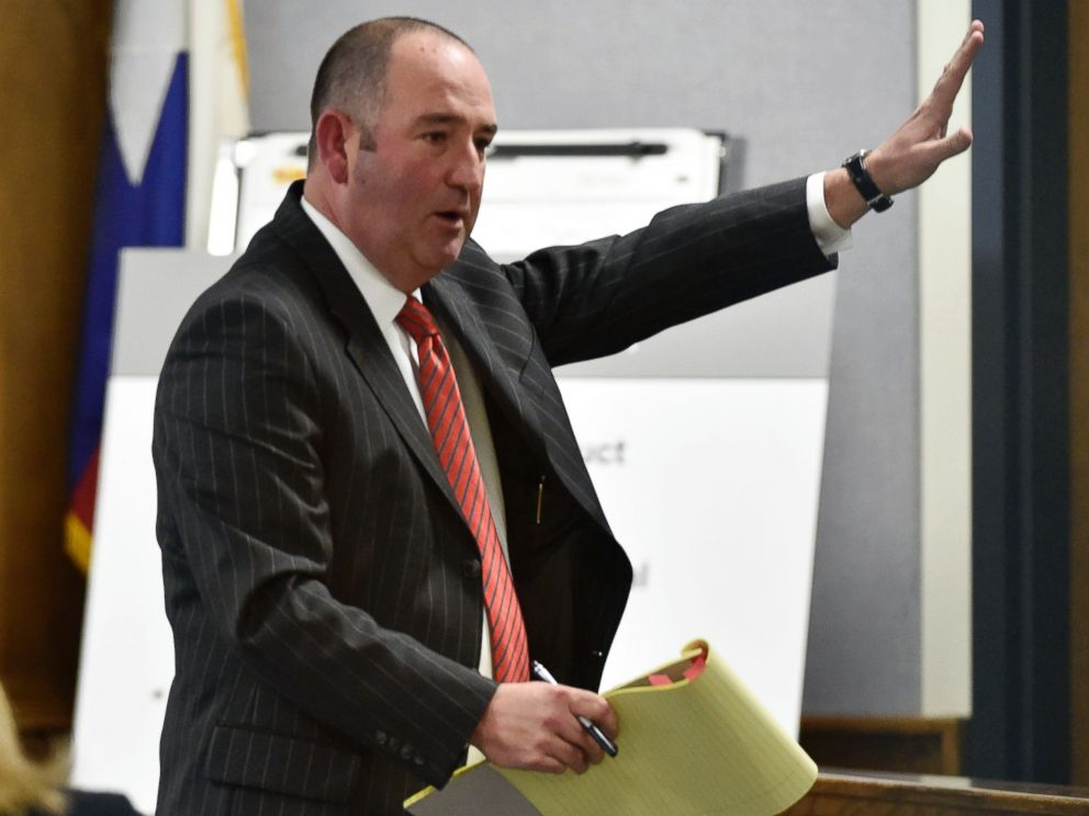 PHOTO: Defense attorney R. Shay Isham speaks to the jury during closing arguments in the capital murder trial of former Marine Cpl. Eddie Ray Routh in Stephenville, Texas on Feb. 24, 2015.