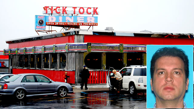 PHOTO: Georgios Spyropoulos was arrested April 9, 2013 at the Tick Tock Diner that he manages in Clifton, N.J. for conspiracy in a plot to have a hit man kill his uncle.