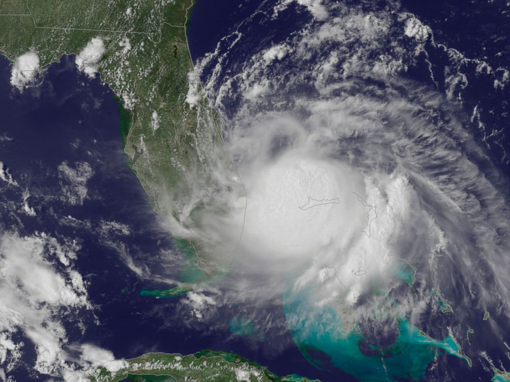 PHOTO: This July 1, 2014, satellite image released by the National Oceanic and Atmospheric Administration (NOAA), shows the center of Tropical Storm Arthur off the east coast of Florida.