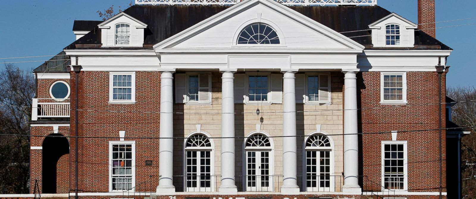 PHOTO: An exterior view of the Phi Kappa Psi fraternity house at the University of Virginia, in Charlottsville, Va.