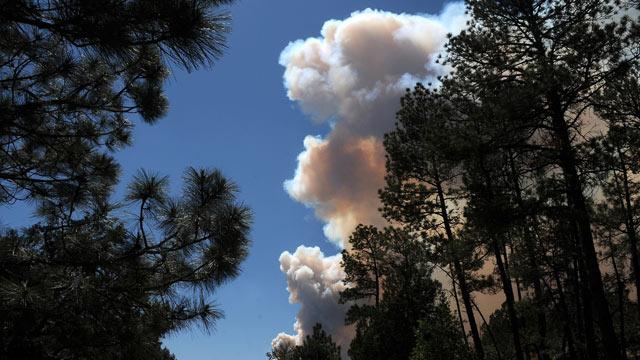 PHOTO:Smoke billows from the Little Bear fire in southeastern New Mexico near Ruidoso, Saturday, June 9, 2012.