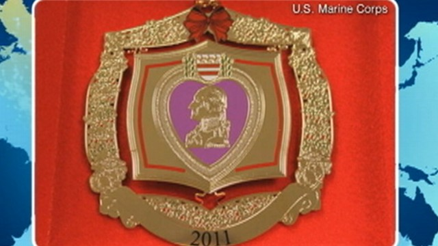 VIDEO: Fallen Marines families received ornaments addressed to their dead loved ones.