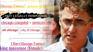 PHOTO A federal judge has ruled that Internet classified ad giant Craigslist is not legally responsible for the content of its postings and therefore will not have to shut down its sex ads.