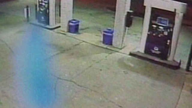 VIDEO: Haunting blue images are captured by surveillance video.