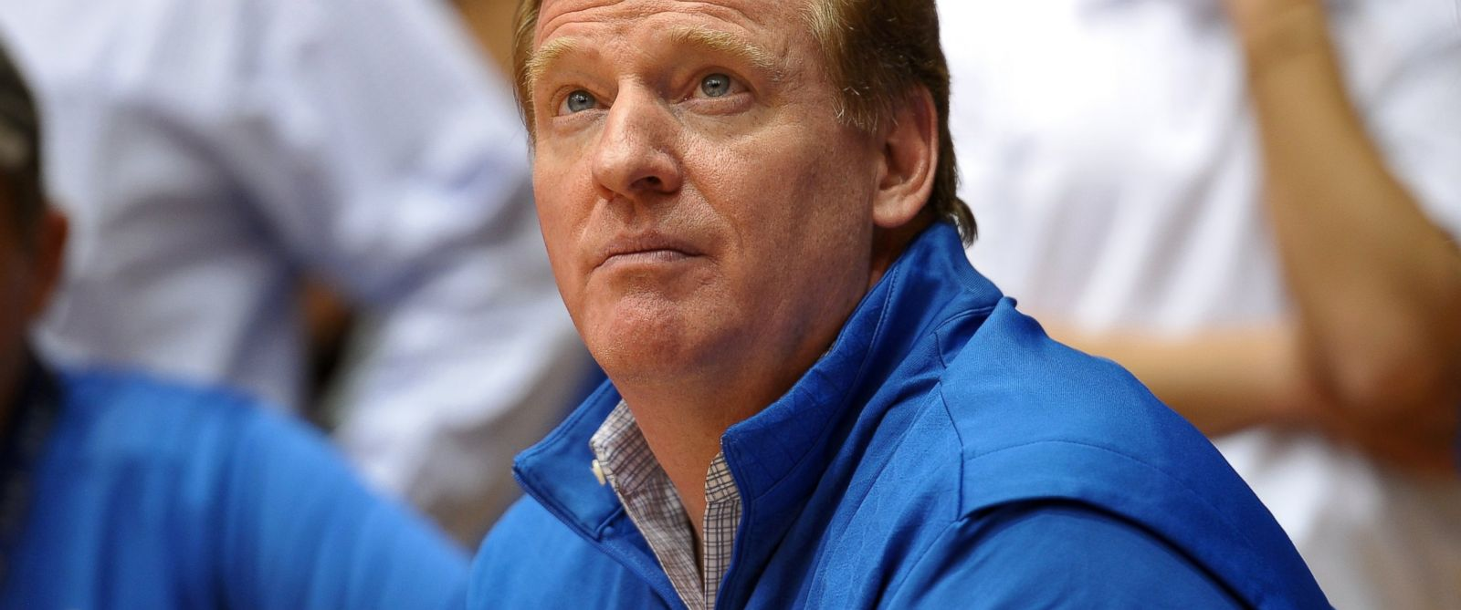 PHOTO: NFL Commissioner Roger Goodell attends a North Carolina Tar Heels game at Cameron Indoor Stadium, March 8, 2014 in Durham, North Carolina.