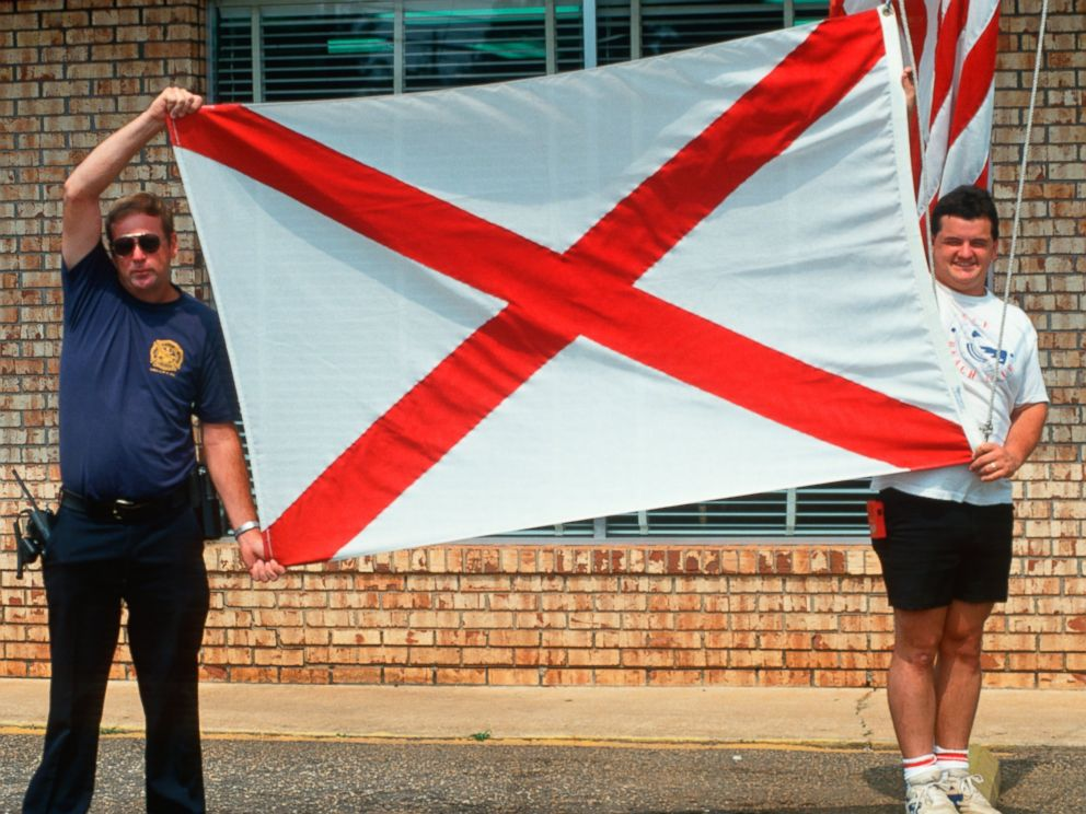PHOTO: The state flag of Alabama is see in this 2003 file photo.