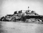 PHOTO: Overall view of the Alcatraz penitenciary located in the San Francisco Bay in 1946.