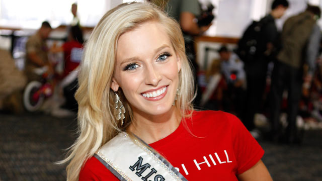 PHOTO: Miss Maryland, Allyn Rose attends a bike build in celebration of the 60th anniversary of the Miss USA Pageant and the 70th anniversary of the USO at Pier 88 on May 26, 2011 in New York City.