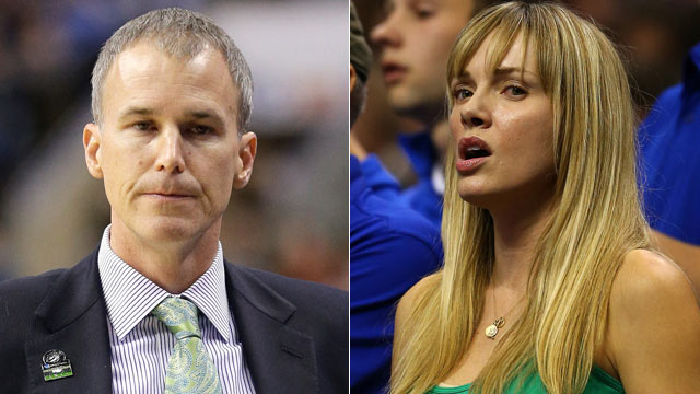 PHOTO: Florida Gulf Coast head coach, Andy Enfield, and his wife, Amanda Marcum Enfield, a former Maxim model, have gained notoriety during Florida Gulf Coasts cinderally run during the NCAA basketball tournament.