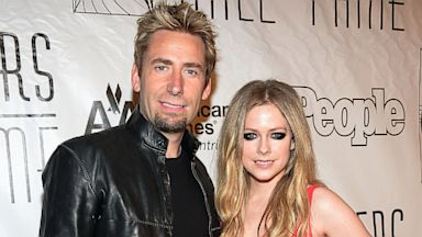 PHOTO: Chad Kroeger and Avril Lavigne attend the Songwriters Hall of Fame 44th Annual Induction and Awards Dinner at the New York Marriott Marquis on June 13, 2013 in New York City.