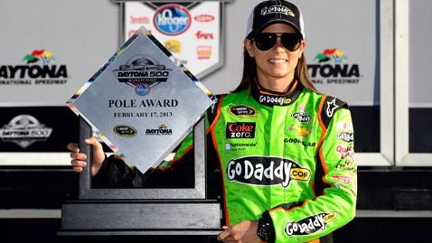 gty danica patrick jt 130217 wblog Danica Patrick Becomes First Woman to Take Pole at Daytona 500